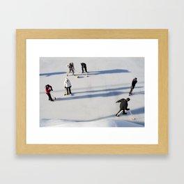 Curling Framed Art Print