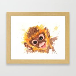Happy Monkey Framed Art Print