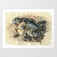 Arrogant Fish Art Print