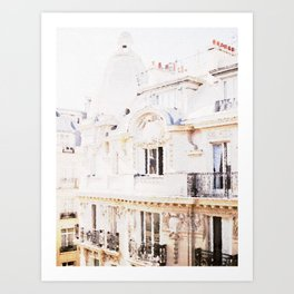Paris Rooftops Watercolor Art Print