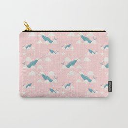 narwhal in ocean pink Carry-All Pouch