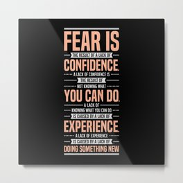 Lab No. 4 Fear Is The Result Dale Carnegie Inspirational Quotes Metal Print