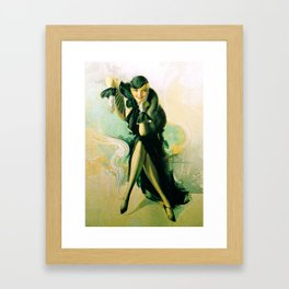 """""""Flapper with Black Fur"""" Pinup by Rolf Armstrong Framed Art Print"""