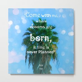 Peter Pan Magic Metal Print
