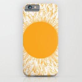 Large Sun Art Print | Abstract Sun Wall Art | Sun Rays Circle Print | Mid Century Modern Poster | ye iPhone Case