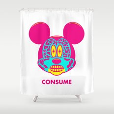 CONSUME Shower Curtain