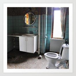 Abandoned toilet Art Print