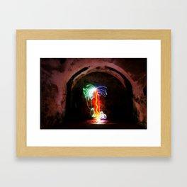 Light Palm Framed Art Print