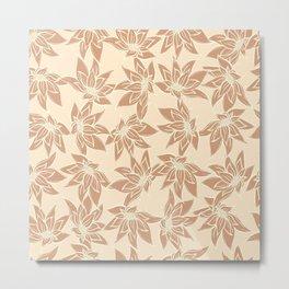 P312020 Floral Caramel Metal Print