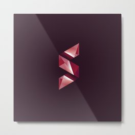 Alphabet letter polygon S Metal Print