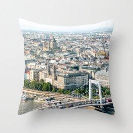Budapest Skyline Throw Pillow