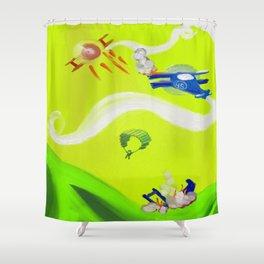 Aerial Battle Shower Curtain