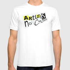 Artless Nonculture (Ransom) Mens Fitted Tee White MEDIUM