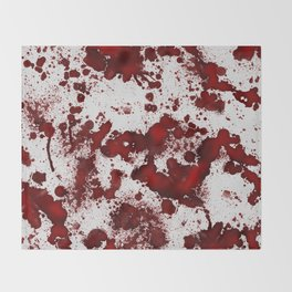 Blood Stains Throw Blanket