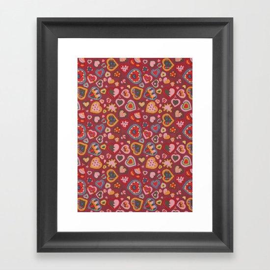 I Heart Patterns Framed Art Print