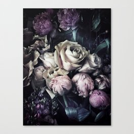 Roses and peonies vintage style Canvas Print