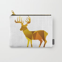 Deer - Gold Geomatric Carry-All Pouch
