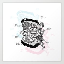 Sandwich (for meat lovers) Art Print