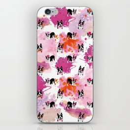 Boston Terriers Pattern Splatters iPhone Skin