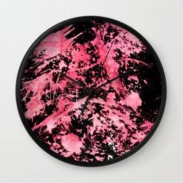 Pink Paint Splatter Wall Clock