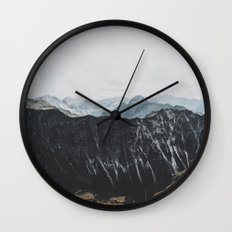 interstellar - landscape photography Wall Clock