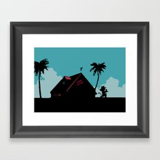 Kame House Framed Art Print