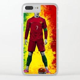 Cristiano Ronaldo - Portugal Clear iPhone Case