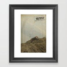 Yeti climb Framed Art Print
