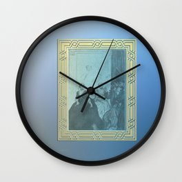 Classic paining on a wall Wall Clock