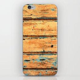 Orange Planks, Wood Texture Decor iPhone Skin