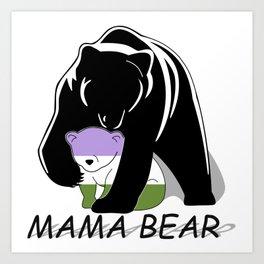 Mama Bear Genderqueer Art Print