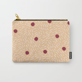 Polka dots and dashes // peach and burgundy Carry-All Pouch