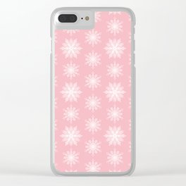 Frosty Snowflakes Sweet Blush Clear iPhone Case