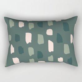 Paintbrush Green Rose Rectangular Pillow