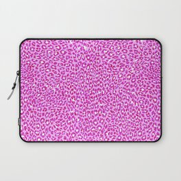 Light Pink Glitter Cheetah Print Laptop Sleeve