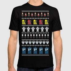 Doctor Who - Time of The Doctor - 8 bit Christmas Special MEDIUM Black Mens Fitted Tee