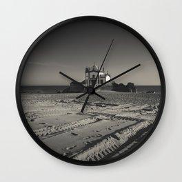 Beach Chapel (B&W) Wall Clock