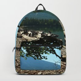 Turquoise Blue Waters Of McDonald Lake Backpack