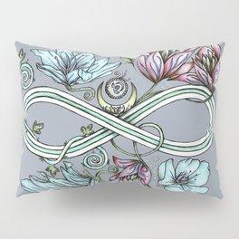 Infinity Floral Moon Garden in Gray Pillow Sham