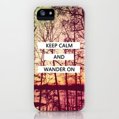 Keep Calm and Wander On iPhone (5, 5s) Slim Case