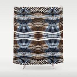 Ethnic hand drawn shibori Shower Curtain