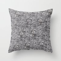 peonies Throw Pillows featuring Peonies by Akwaflorell