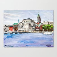 "stockholm Canvas Prints featuring ""Stockholm"" by Charles David Kelley"