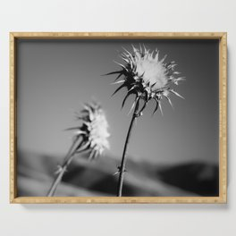 Flowers in Black and White, Central California Serving Tray