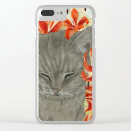 TigerLily's Tigerlilies Clear iPhone Case
