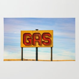 Gas Sign Rug