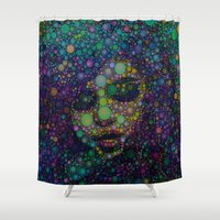 selena gomez Shower Curtains featuring Beautiful Selena  by Amy Anderson