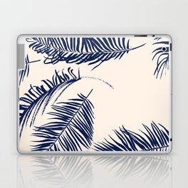 Blue Palm Leaves x Dry Brush Laptop & iPad Skin