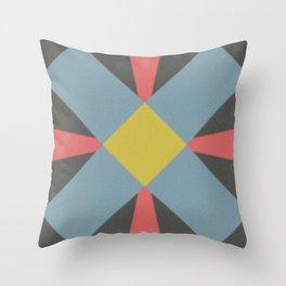 Blue gray Throw Pillow