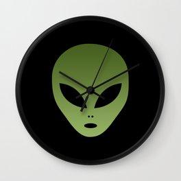 Extraterrestrial Alien Face Wall Clock